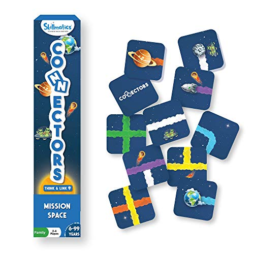 Skillmatics Educational Tile Game : Connectors Mission Space | Super Fun Family Game, Travel Friendly, Skill Building, Strategizing & Gifts for All Ages 6 to 99