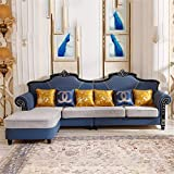 WSN Fabric Sofa,Furniture Modern Linen Fabric Small Space Sectional Sofa with Reversible Chaise Convertible Sectional Sofa Couch L-Shape Couch with for Apartment