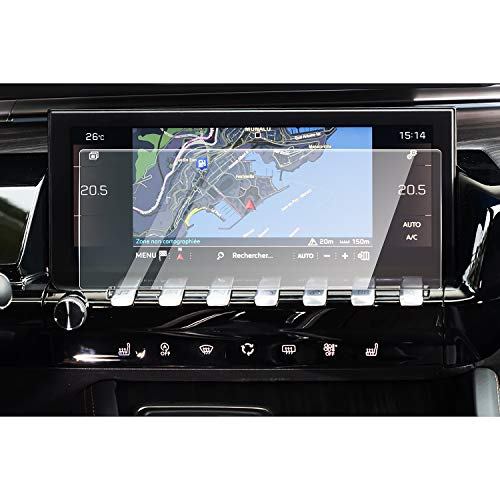 CDEFG para Peugeot 508 Protector de Pantalla de Vidrio Templado, HD Auto 9H GPS Navi película protegida Glass (10 Inches)