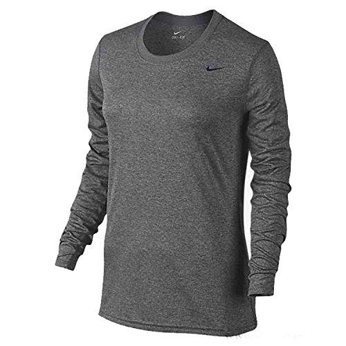 Nike Womens Legend Long Sleeve Poly Top - Grey - Medium