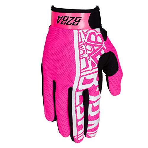 B2BA Clothing RACEWEAR leichte Handschuhe Mountain Bike Downhill Enduro Motocross Freeride DH MX MTB BMX Quad Cross, schnelltrocknend, rutschfest und atmungsaktiv, Farbe Neon Pink Schwarz, Größe L