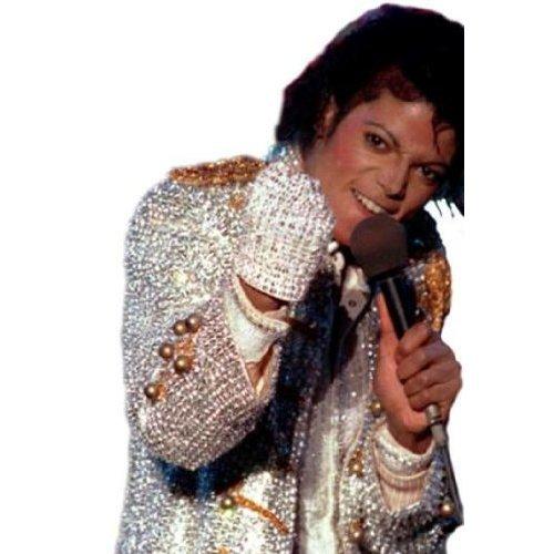 Halloween Party Karneval - Michael Jackson Glitzer Handschuh