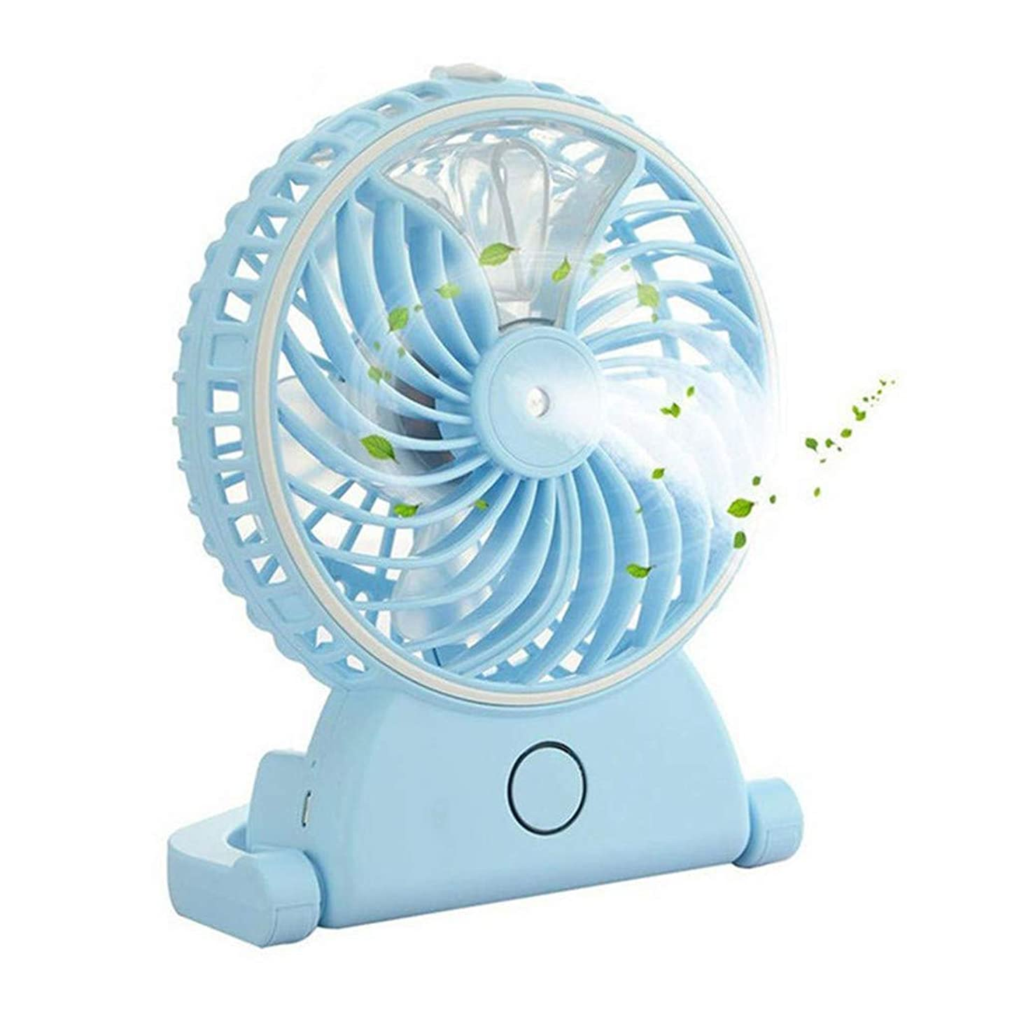 Aroma Humidifier,2019 Portable USB Misting Fan Handheld Design Rechargeable Battery Operated Fan with Water Spray Fan