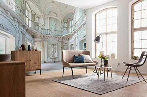 Komar Vlies Fototapete von Stefan Hefele LOST PLACES - White Room III - Größe: 400 x 280 cm (Breite x Höhe) - Stuck, Palast, Tapete, Orte, Gebäude - 7 Bahnen - SHX7-162