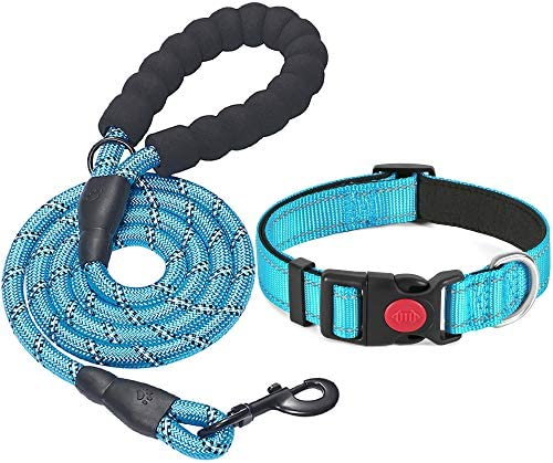 Beebiepet 5 FT Strong Dog Leash with Comfortable Padded Handle and Highly Reflective Threads product image