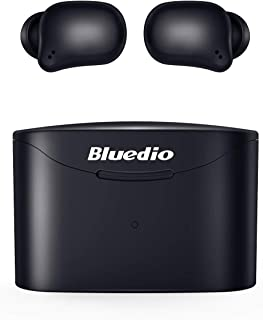 Bluetooth 5.0 Wireless Earbuds, Bluedio T Elf 2 True Wireless Touch Headphones in-Ear Earphones with Charging Case, Mini C...