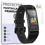 REY 6X Protector de Pantalla para Huawei Band 4 Pro - Band 3 Pro, Protección Premium (Pack de 6)