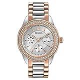 Bulova Women's 98N100 Multi-Function Crystal Bracelet Watch