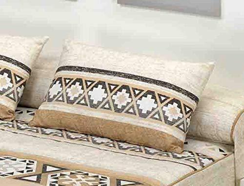 Edredon conforter Maya Reversible (Beige, Cojin 60 x 40 cm (Sin Relleno))