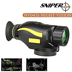 """Night Vision Monocular 5X35 Night Vision Infrared IR Camera HD Digital Night Vision Scopes with 1.5"""" TFT LCD Take Photos and Video in HD1080P Playback Function and TF Card for Hunting"""
