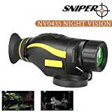 Sniper Night Vision Monocular 4X35 Infrared IR Camera Take Photos and Video in HD 1080P Playback Function and TF Card for Hunting