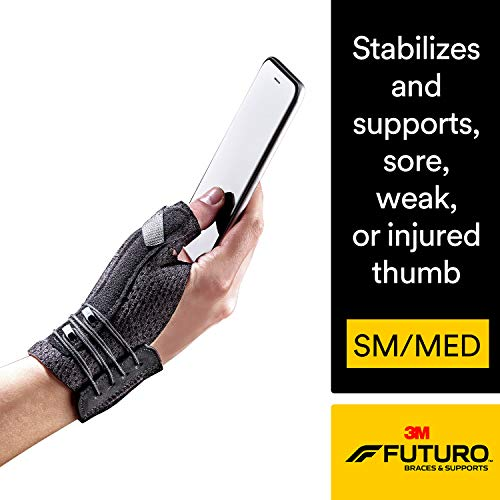 FUTURO Deluxe Thumb Stabilizer, Improves Stability, Moderate Stabilizing Support, Small/Medium,...