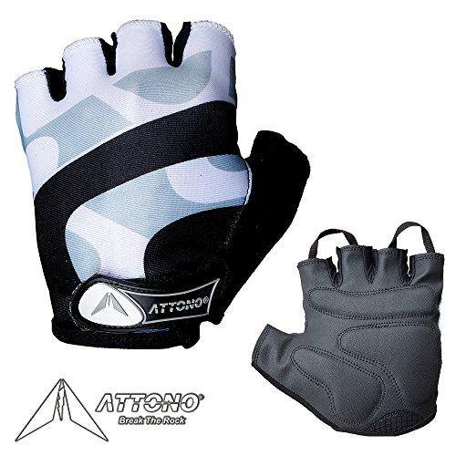 ATTONO Fahrradhandschuhe Damen Herren Gel Fahrrad Handschuhe - Größe 8