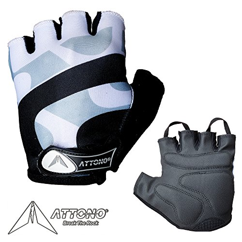 ATTONO Fahrradhandschuhe Damen Herren Gel Fahrrad Handschuhe - Größe 6