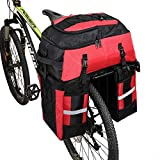 PELLOR Bike Bag Rear Bicycle Pannier Bags 70L Large Capacity Detachable Bicycle Rear Seat Commuter Bag Luggage Carrier Waterproof Saddle Bags with Rain Cover
