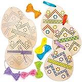 Baker Ross Kits Punto de Cruz de Madera Huevo de Pascua Set para niños (paquete de 5)