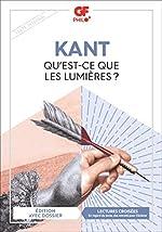 Qu'est-ce que les Lumières ? d'Emmanuel Kant