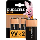 Duracell 6LR61 MX1604 - Plus 9V, Pilas Alcalinas, Paquete de 2, 1.5 Voltios
