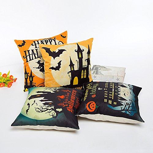 Federe Cuscino Halloween Decorativi per Cuscini 45x45 Divano 4-Pack da Pingenaneer