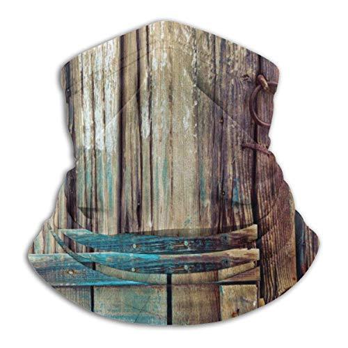 Neck Warmer Aged Shed Door Neck Warmer Windproof Balaclava Fleece Hood Free UV Winter Hats