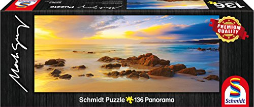 Schmidt Spiele 59364 Mark Gray, Friendly Beaches - Puzzle clásico de Tasmania, Australia, 136 Piezas