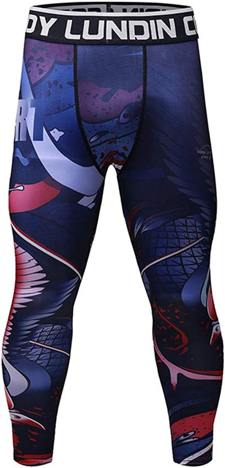 Men's Compression Pants  Fitness Running Training, Breathable, QuickDrying Tight Pants Men's Compression Dry Cool Sports Tights Pants Running Leggings Yoga (color   6, Size   L)