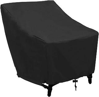 Parapolvere Esterno Rivestimento per mobili da Esterno Panno Oxford Copri mobili per la casa Adatto per sedie a Sdraio Pieghevole Resistente ai Raggi UV e Resistente alle intemperie 82 x 93 cm