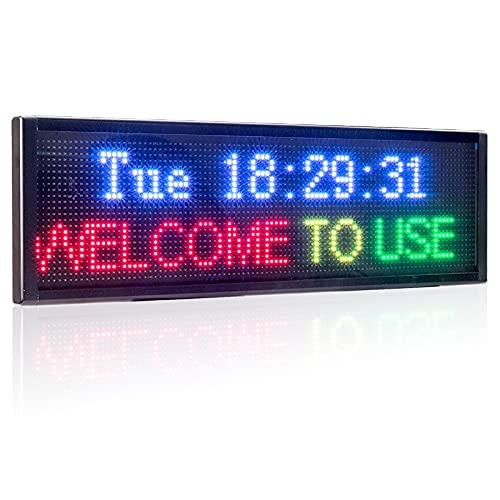 P10 LED Monochrome Logo 44 x 8 Pulgadas con conexión WiFi Información de Desplazamiento LED Logo Logo Comercial Pantalla DE Pantalla DE Pantalla DE Pantalla DE INFORMACIÓN
