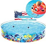 Swimming Pool for Kids Foldable 6ft - Kiddie Pool Snapset Instant Kiddie Pools Baby Pool Kids Pool for Family Backyard Dog Pet Bath Collapsible Pool Dog Pet Pool Bathing Tub - No need to inflate