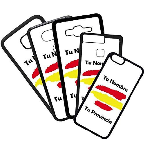 Hoesjes voor mobiele telefoon TPU-hoesjes Compatibel met het telefoonmodel Samsung Galaxy S20 ULTRA Vlag van Spanje met uw naam en provincie