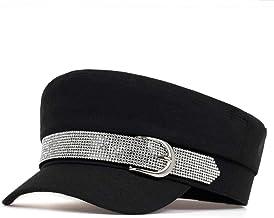 ileibmaoz Baret Hoed Nieuwe Big Baret Stijl Gesp Met Diamant Hip Hop Caps Trend Modellen Dames Hoeden Wild Hat