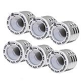 (6-Pack) SpiritLED E26 E27 to E12 Socket Adapter,UL Listed Medium Screw E26 to Candelabra Screw E12 Light Bulb Socket Adapter Converter Reducer (White Color-6pcs /Pack)