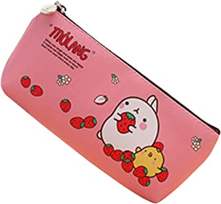Minzhi Cute Kawaii Molang Rabbit Waterproof Storage Pen Pencil Bag Stationery