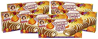 Little Debbie Pumpkin Spice Rolls, 6 Boxes, 36 Individually Wrapped Cake Rolls