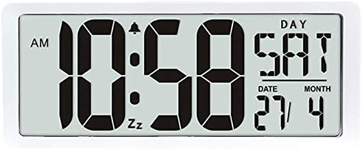 TXL Large Digital Calendar Temperature Wall Clock-3 Alarm Options, Count Up & Down Timer, 15.2 inch Extra Large LCD Displa...