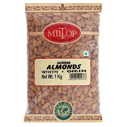 Miltop California Almonds, 1kg,Raw
