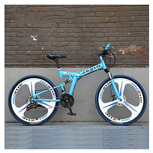 Deportes al aire libre Bicicleta de montaña de 26 pulgadas Variable Bicicleta de 27 velocidades Absorción de doble choque Coche deportivo Off-Road Racing Adulto Marco de acero de alto carbono plegable