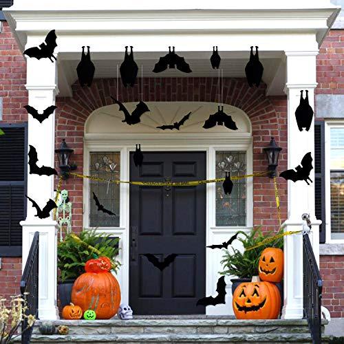 CCINEE Halloween Bat Decoration,Large Hanging Bat Wall Decal Window Door Entryway Sticker for Party Favor Supply,24PCS
