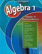 Algebra 1, Chapter 10 Resource Masters (Glencoe Mathematics)