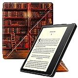 FINTIE Origami Funda para Kindle Oasis 2019 (10.ª Generación)/2017 (9.ª Generación) - Slim Fit Carcasa Vertical con Función de Auto-Reposo/Activación, Biblioteca