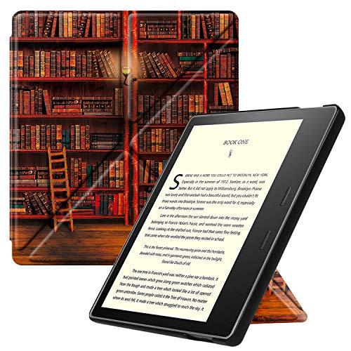 Fintie Hülle kompatibel für Kindle Oasis 10. Generation (2019 Modell) & 9. Generation (2017 Modell) - [ Origami Serie ] Schutzhülle mit Standfunktion & Auto Sleep/Wake Funktion, Bibliothek