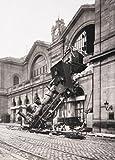 1art1 Trenes - Ruina del Tren En La Estación De Montparnasse, París, Francia, 1895, 2 Partes Póster Fotomural (250 x 180cm)