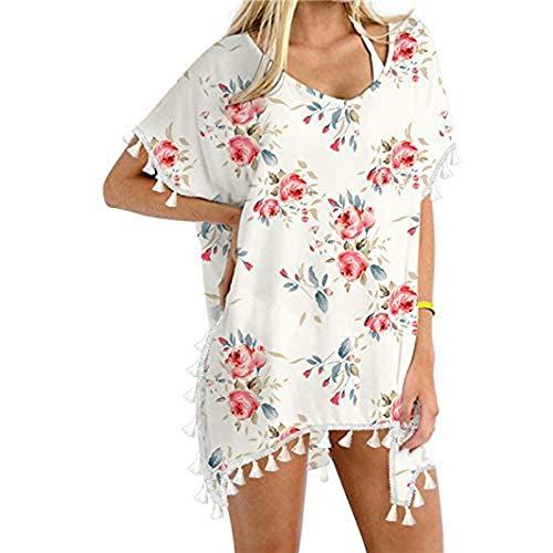 Damen Strandkleidung Aufdecken Quaste Stilvoll Sommerkleid Sexy Strand Badebekleidung Kleid Baden Badeanzug Kaftan Quasten Beach Loose Bikini Cover Up Tops