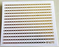 MZRB ネイルのヒントビューティーDIYのためのファッション3Dゴールドネイルアートステッカー戻るグルーネイルステッカー (Color : 6272)