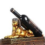 COOLSHOPY Botellero de vino botellero de vino esfinge estante de vino decoración del hogar de resina estante de vino botella de vino estante de vino hogar estante de vino sala de estar