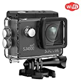 SJCAM SJ4000 WiFi Action Camera Sport Cam Waterproof Underwater Camera,12MP 1080P 30M Camera with Waterproof Case & Accessories Included(Black)