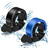 Bike Bell, 2 Pack Innovative Aluminum Alloy Bike Ring, O Design Bicycle Bell with Loud Sound, Bike Horn for Adult Electric Bike/ Mountain Bike/ Road Bike, Compatible with 22.2-22.8 mm Bicycle Handle