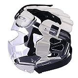 Cabeza ajustable de circunferencia de la cabeza de karate con protector facial transparente, cubierta de la cara para la prevención de lesiones, tamaño universal para todas las edades