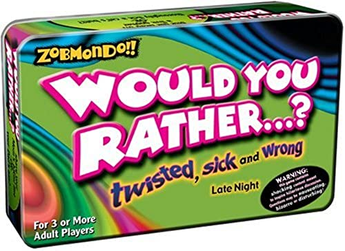 Zobmondo Would you Rather - Pocket voyage Version - Twisted, Sick and Wrong