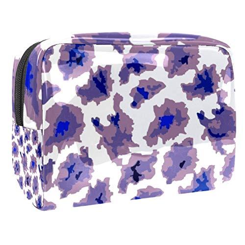 Bolsa de maquillaje portátil con cremallera bolsa de aseo de viaje para las mujeres práctico almacenamiento cosmético bolsa loco dinosaurio roca